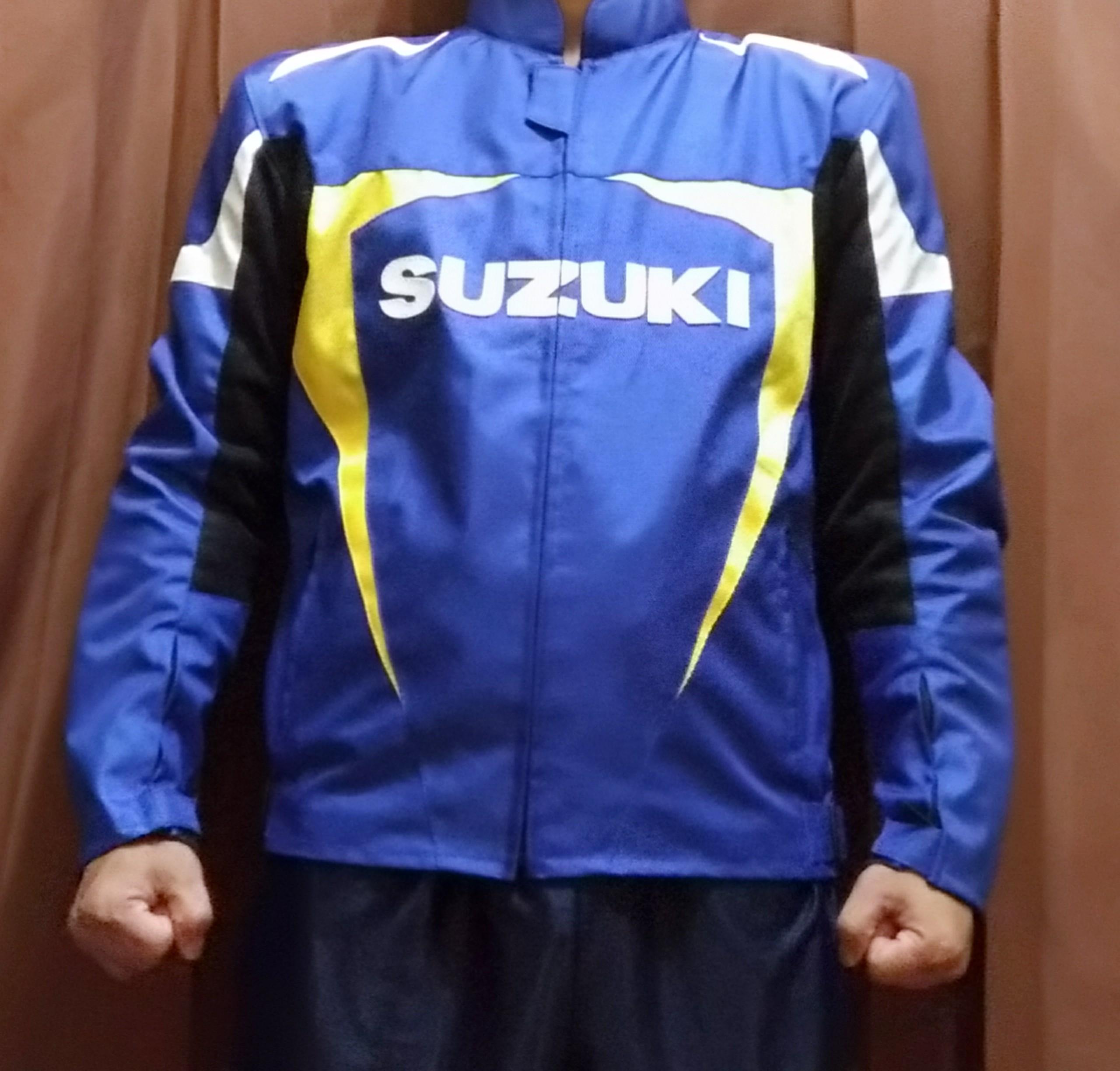 Review Jaket Suzuki Ecstar depan