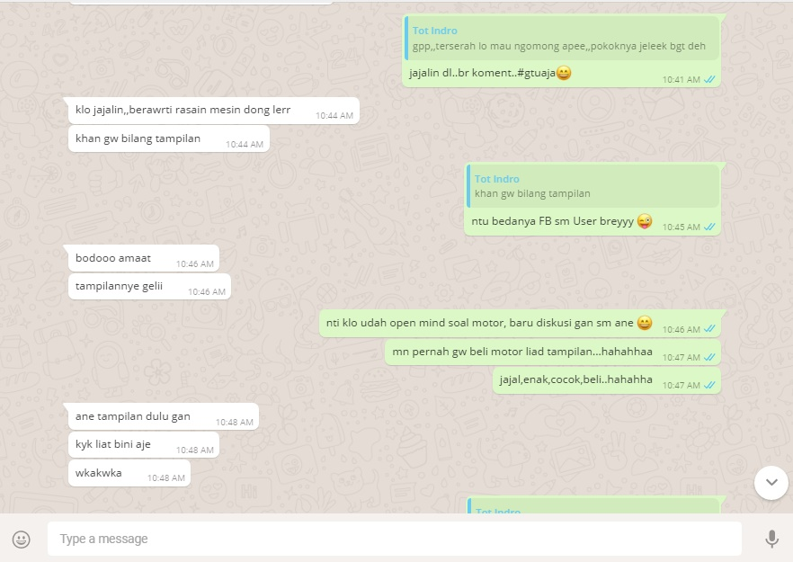 chat tampilan motor 2